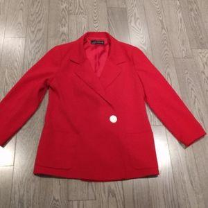Red women's blazer by Zara